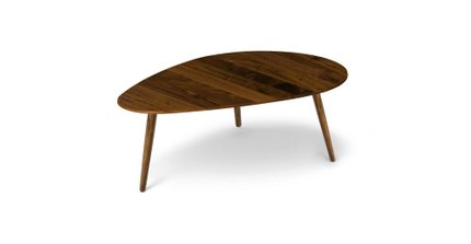 Amoeba Mid Century Modern Coffee Table Walnut