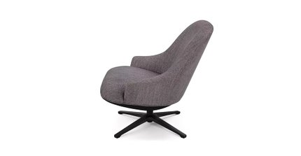 Twirl Contemporary Swivel Chair Black Pepper