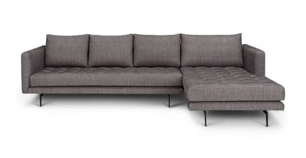 Parker Right Sectional Black Pepper