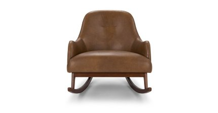 Embrace Leather Rocking Chair Tan
