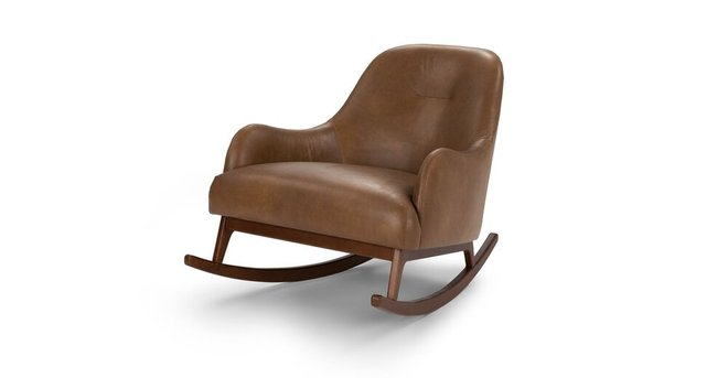 Article Embrace Leather Rocking Chair Tan