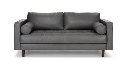 Sven Mid-Century Modern Sofa Oxford Gray
