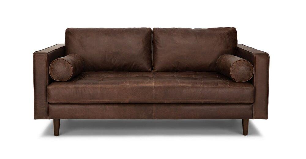 Article Sven Mid-Century Modern Sofa Chocolat