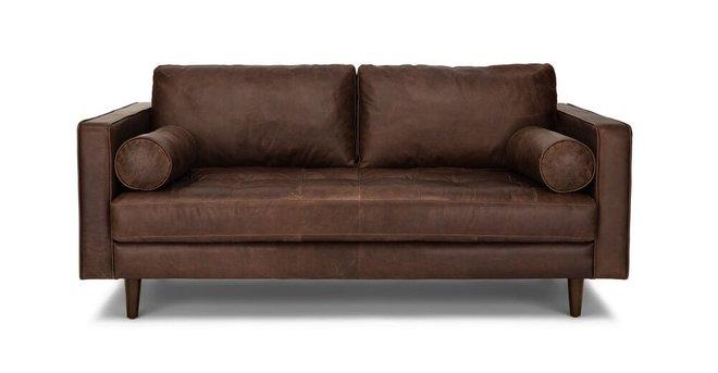 Sven Mid-Century Modern Sofa Chocolat