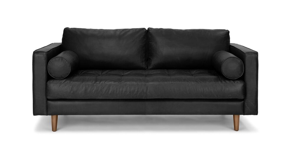 Incredible Sven Mid Century Modern Sofa Black Machost Co Dining Chair Design Ideas Machostcouk