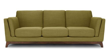 Article Ceni Mid-Century Modern Fabric Sofa Green
