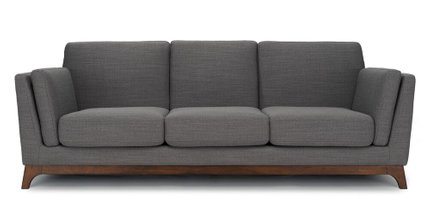 Article Ceni Mid-Century Modern Fabric Sofa Pyrite Gray