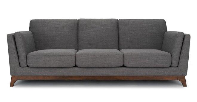 Ceni Mid-Century Modern Fabric Sofa Pyrite Gray