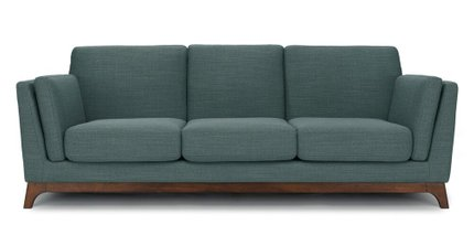 Article Ceni Mid-Century Modern Fabric Sofa Aquarius Aqua