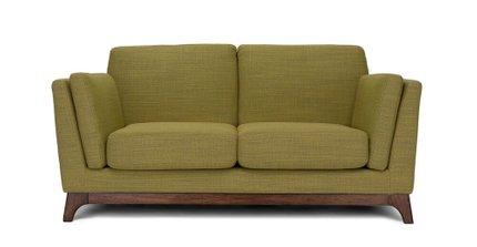 Ceni Mid-Century Modern Fabric Loveseatseagrass Green