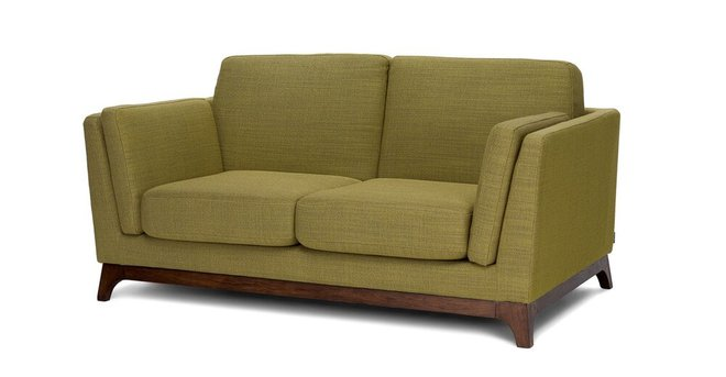 Article Ceni Mid-Century Modern Fabric Loveseat Seagrass Green