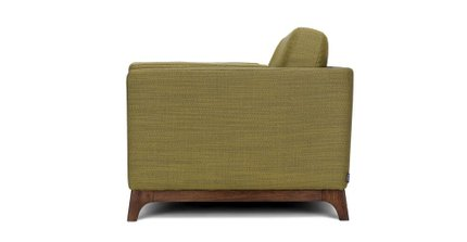 Ceni Mid-Century Modern Fabric Loveseat Seagrass Green