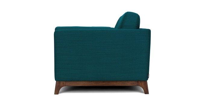 Ceni Mid-Century Modern Fabric Loveseat Lagoon Blue