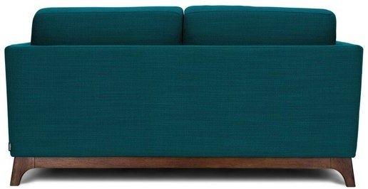 Article Ceni Mid-Century Modern Fabric Loveseat Lagoon Blue