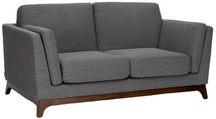 Article Ceni Mid-Century Modern Fabric Loveseat Pyrite Gray