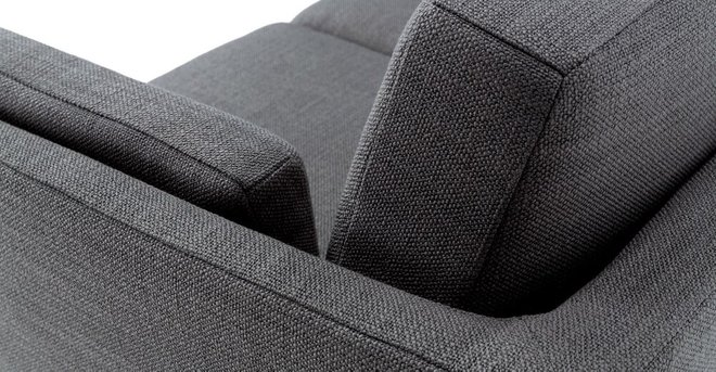 Ceni Mid-Century Modern Fabric Loveseat Pyrite Gray