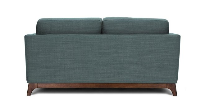 Article Ceni Mid-Century Modern Fabric Loveseat Aquarius Aqua