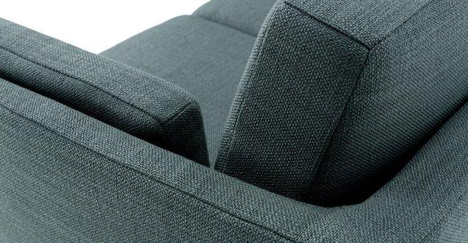 Ceni Mid-Century Modern Fabric Loveseat Aquarius Aqua