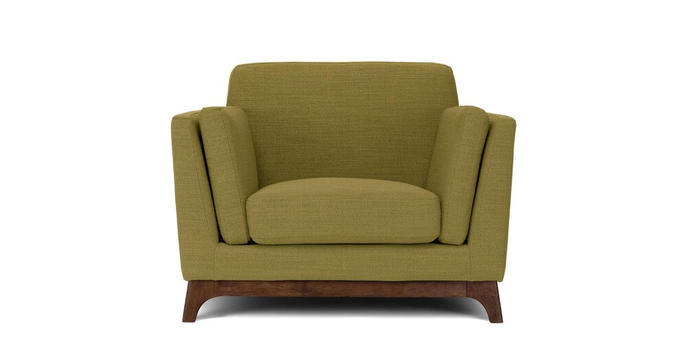 Swell Ceni Mid Century Modern Lounge Chair Seagrass Green Dailytribune Chair Design For Home Dailytribuneorg