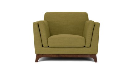 Ceni Mid-Century Modern Lounge Chair Seagrass Green