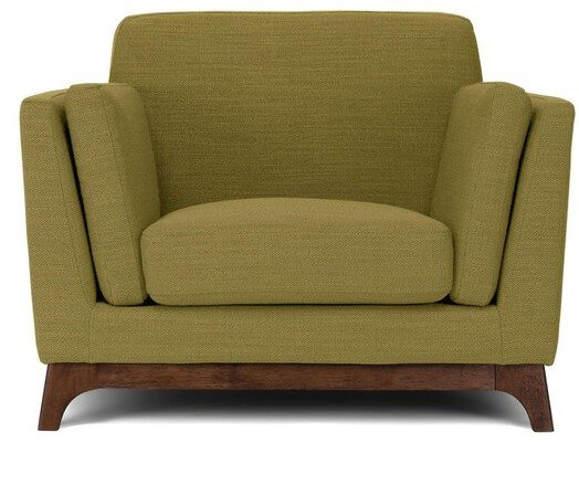 Article Ceni Mid-Century Modern Lounge Chair Seagrass Green