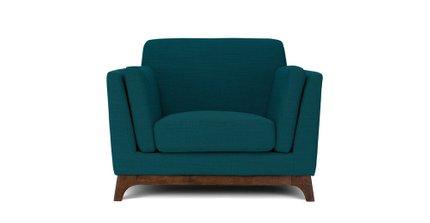 Ceni Mid-Century Modern Lounge Chair Lagoon Blue