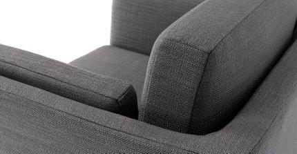 Ceni Mid-Century Modern Lounge Chair Pyrite Gray