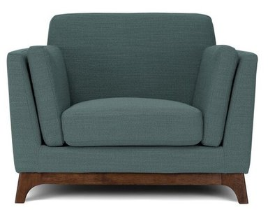 Article Ceni Mid-Century Modern Lounge Chair Aqua