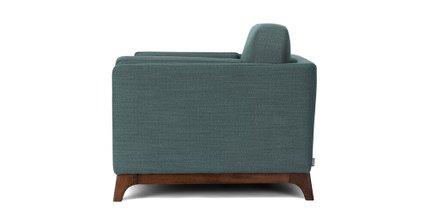 Ceni Mid-Century Modern Lounge Chair Aqua