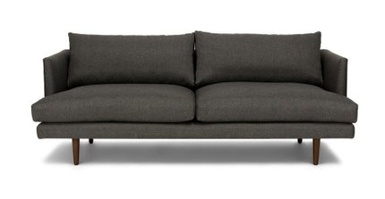 Article Burrard Mid-Century Modern Loveseat Graphite Gray