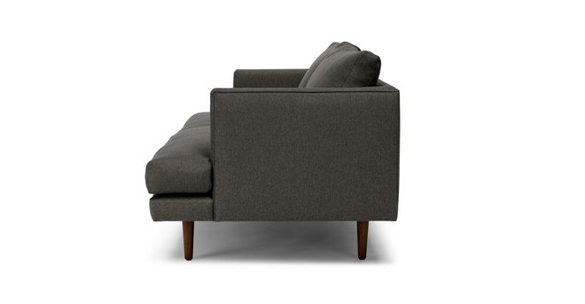 Article Burrard Mid-Century Modern Love Seat Graphite Gray