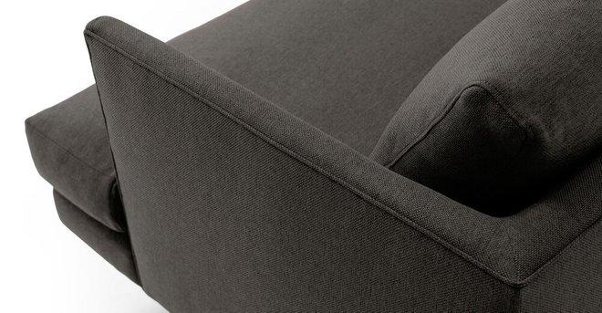 Burrard Mid-Century Modern Love Seat Graphite Gray