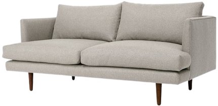 Article Burrard Mid-Century Modern Love Seat Seasalt Gray