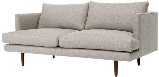 Article Burrard Mid-Century Modern Love Seat Seasalt Gray