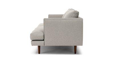 Burrard Mid-Century Modern Love Seat Seasalt Gray