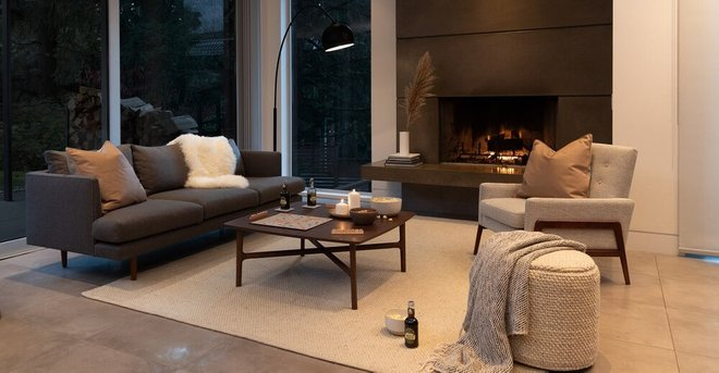 Burrard Mid-Century Modern Sofa Graphite Gray