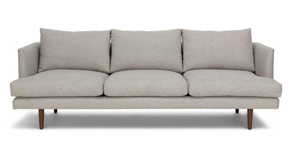 Burrard Mid-Century Modern Sofa Gray