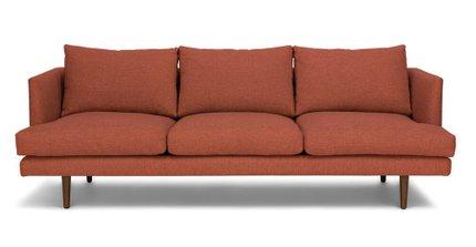 Burrard Mid-Century Modern Sofa Red