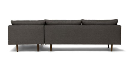 Burrard Right Sectional Sofa Graphite Gray