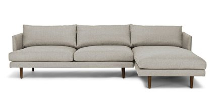 Article Burrard Right Sectional Sofa Seasalt Gray
