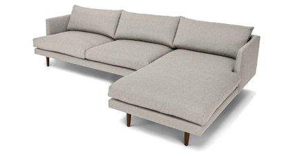 Burrard Right Sectional Sofa Seasalt Gray