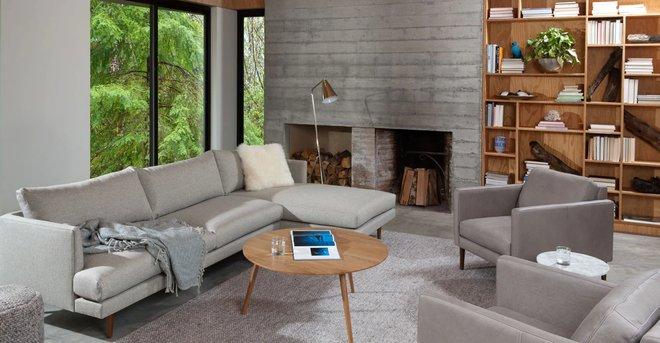 Article Burrard Right Sectional Sofa Seasalt Gray