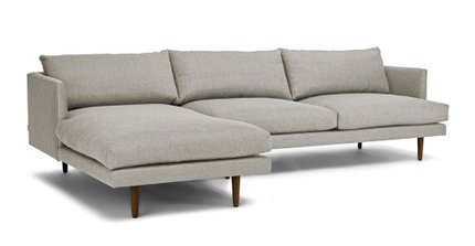 Burrard Left Sectional Sofa Seasalt Gray