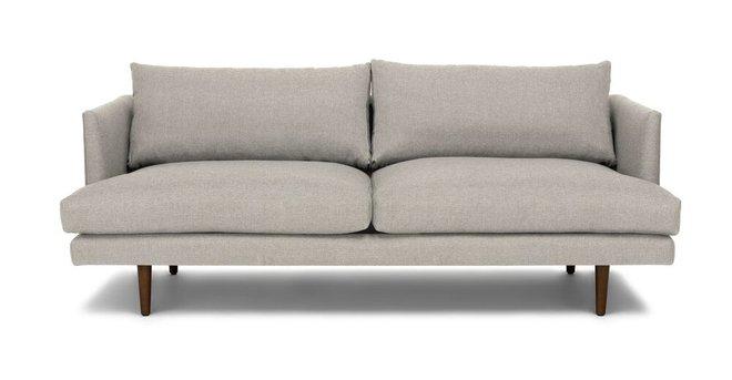Burrard Mid-Century Modern Sofa Gray & Walnut