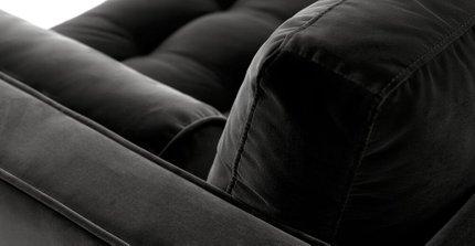 "Sven Mid-Century Modern Sofa Shadow Gray 72"""