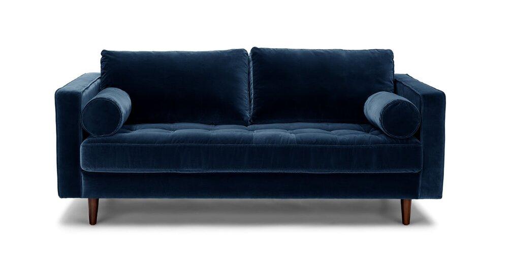 Phenomenal Sven Mid Century Modern 72 Sofa Cascadia Blue In La Sofas Ibusinesslaw Wood Chair Design Ideas Ibusinesslaworg