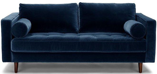 "Article Sven Mid-Century Modern 72"" Sofa Cascadia Blue"