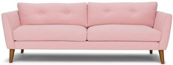 Article Emil Mid-Century Modern Sofa Quartz Rose