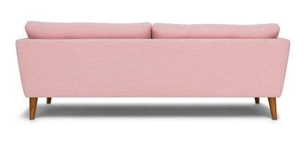 Emil Mid-Century Modern Sofa Quartz Rose