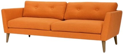 Article Emil Button Tufted Sofa Orange